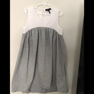 Gap Kids Size 8/9 Gray and White Dress